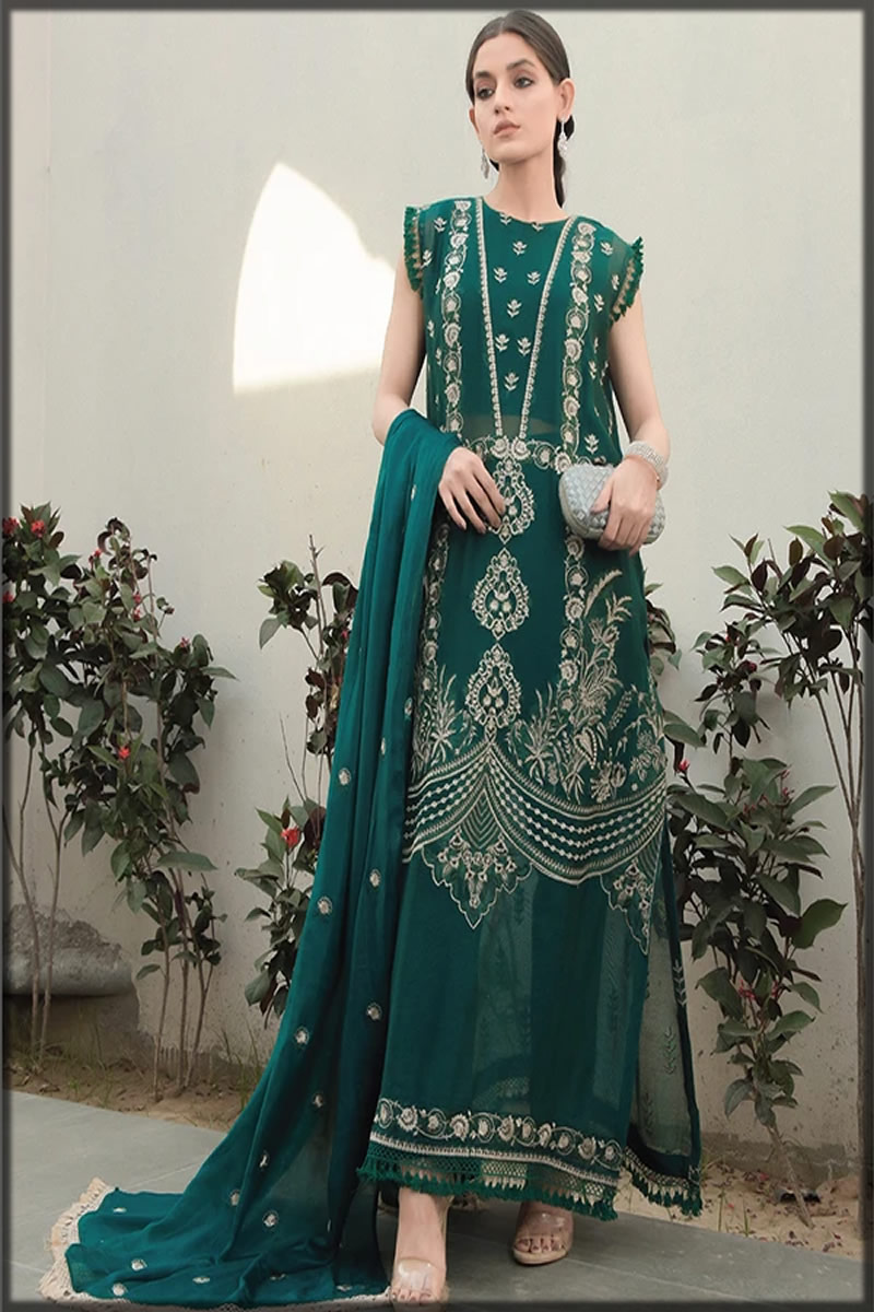 Leaf Dust Embroidered Lawn Suit