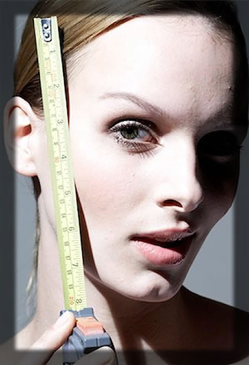 Measure The Length Of Your Face