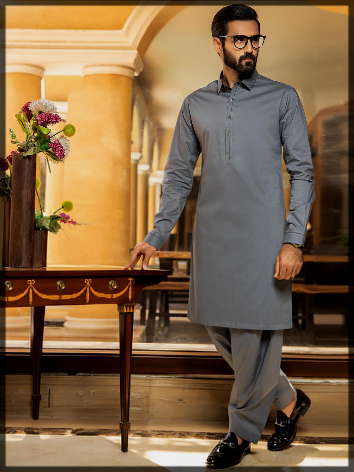 Men Unstitched Blended Suits for summer