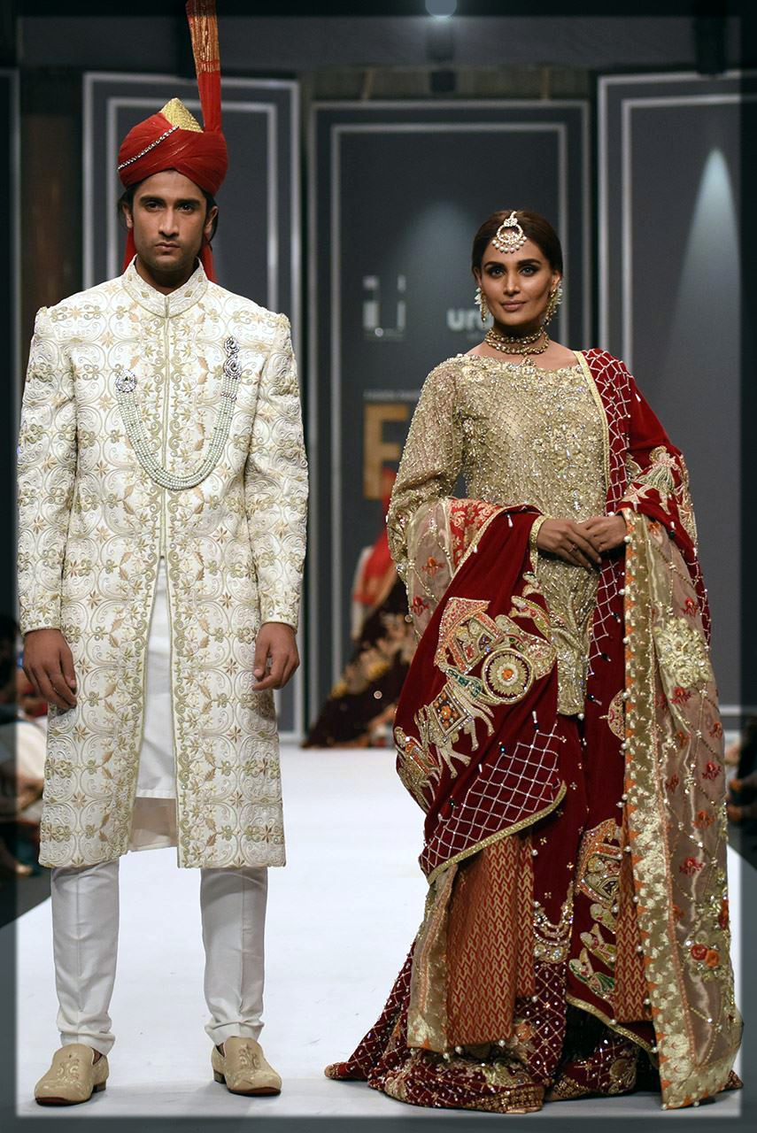 Mughal theme bridal lehenga