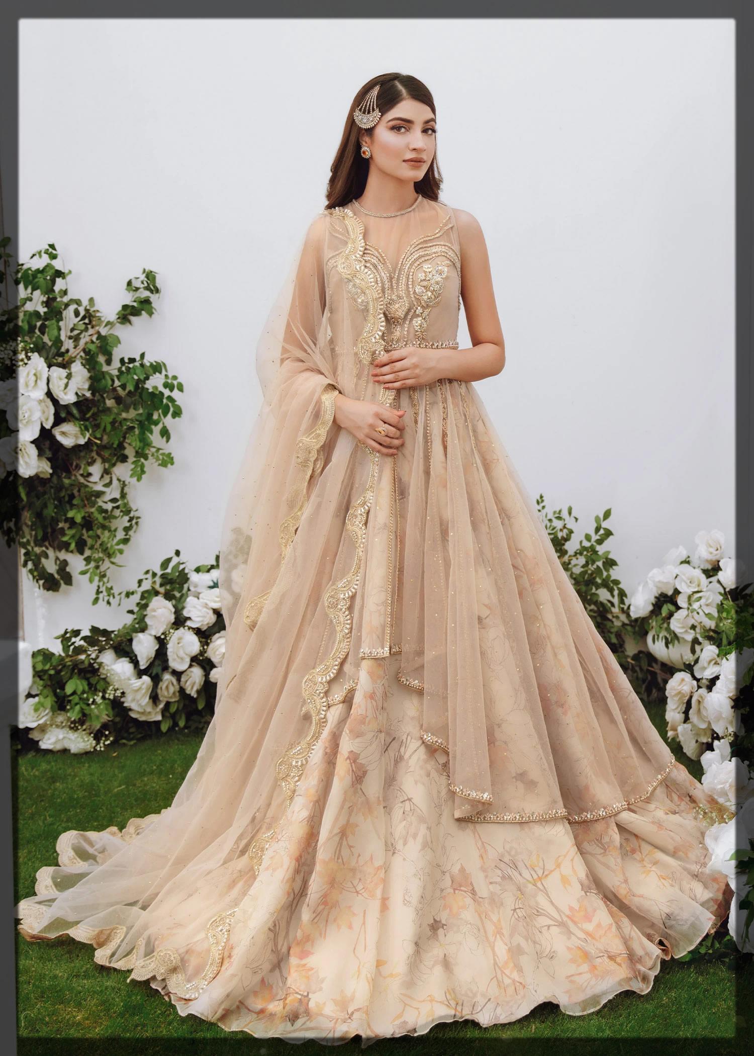 ORGANZA EMBELLISHED BRIDAL PEPLUM DRESS