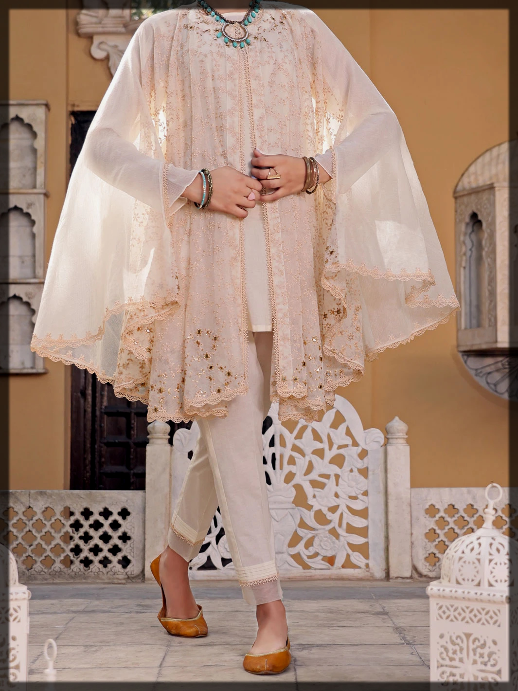 Off White Khaddi 2 Piece Stitched suit
