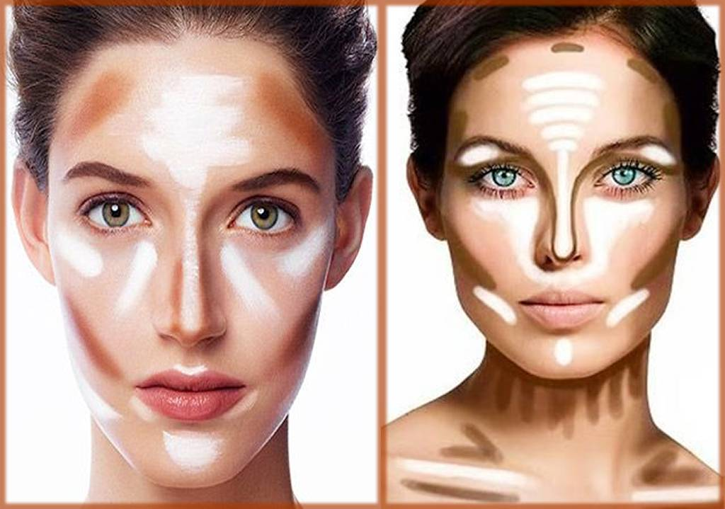 Oval face contouring