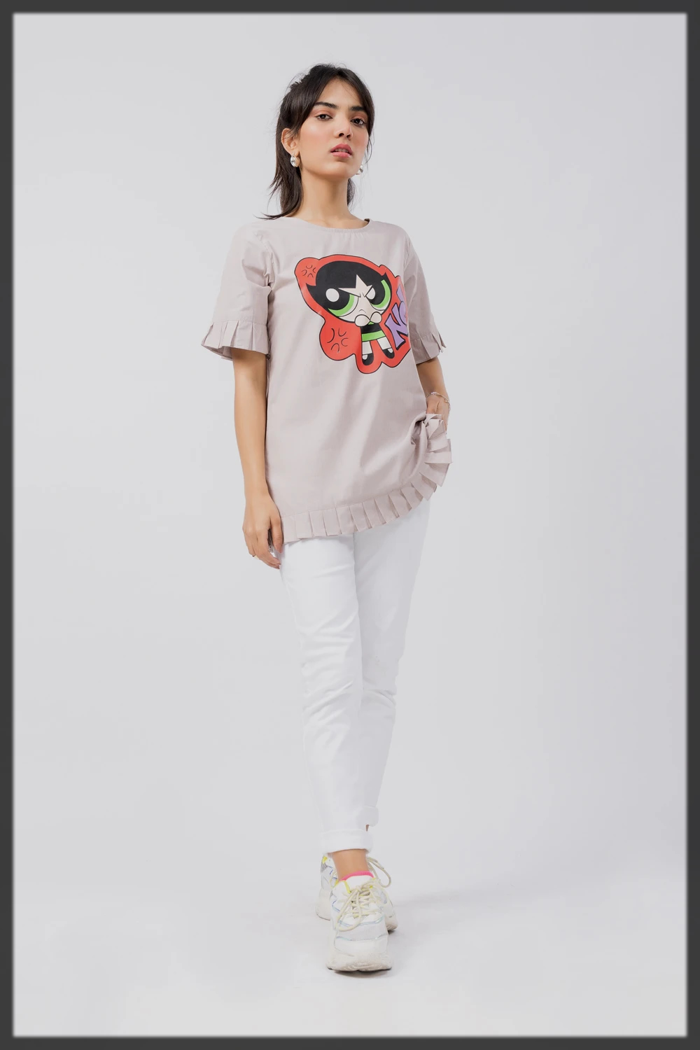 POWERPUFF WOVEN TOP BY BREAKOUT