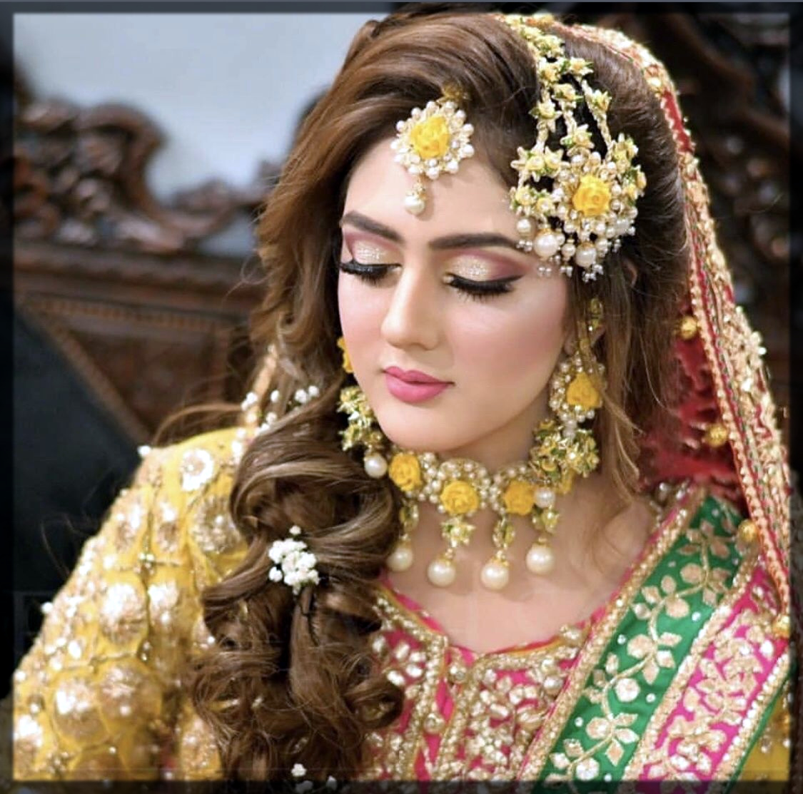 Pakistani Bridal mehndi Makeup Tutorial