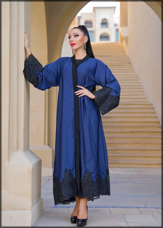 Pearls Open Abaya Design