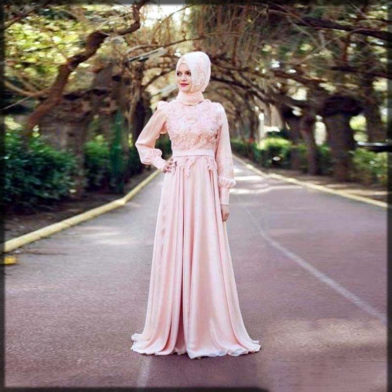 Pink floral walima dress
