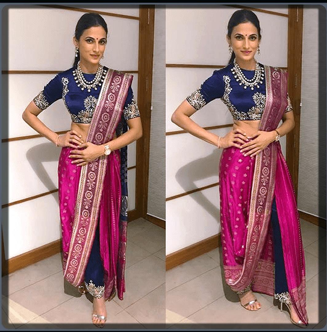 Silk Printed Pant Saree