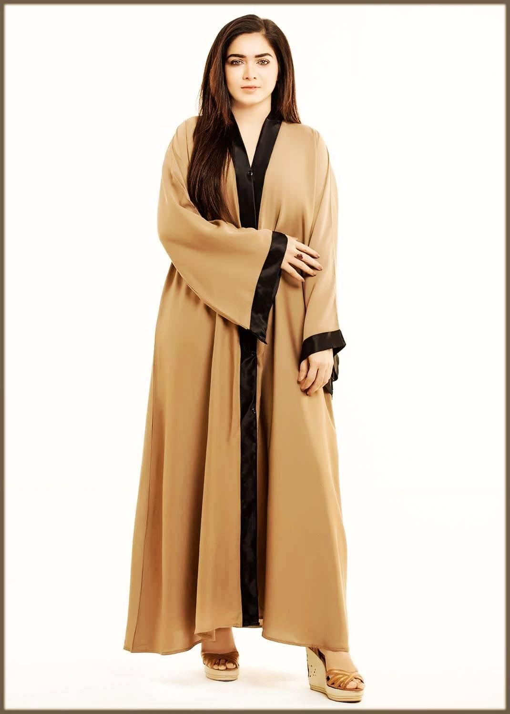 Simple open abaya design