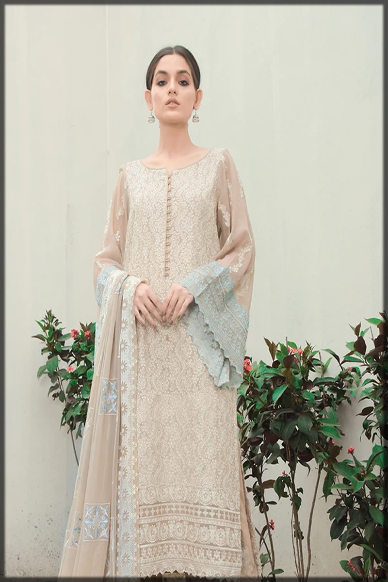 Snazzy Reed Embroidered Lawn Suit