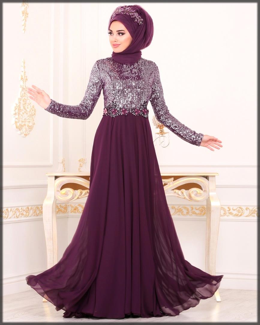 Stone work wedding abaya dress