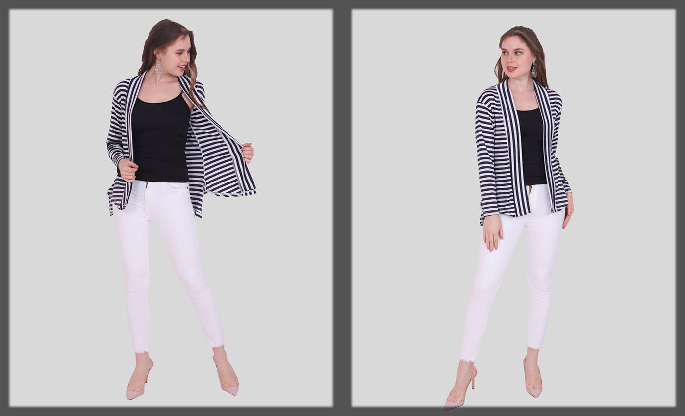 Stunning black and white outfit - western