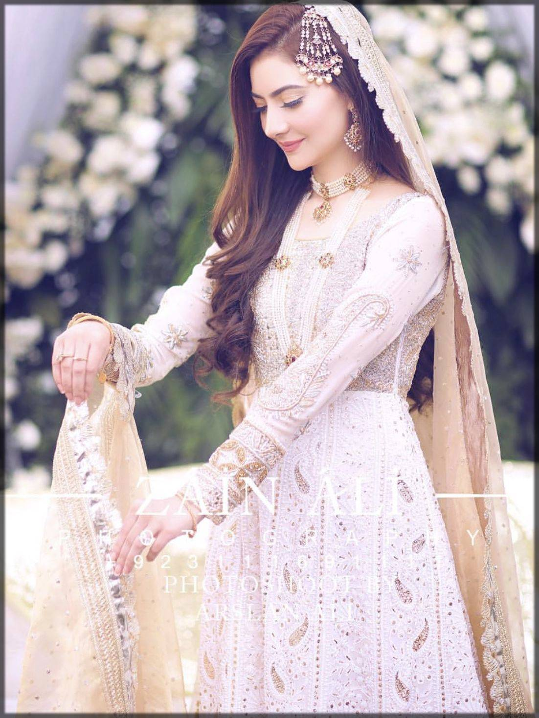 Stunning bridal nikkah dress