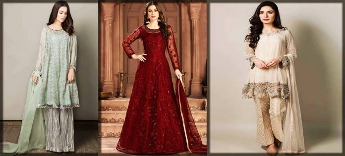 Stylish Pakistani Party Wear Frocks