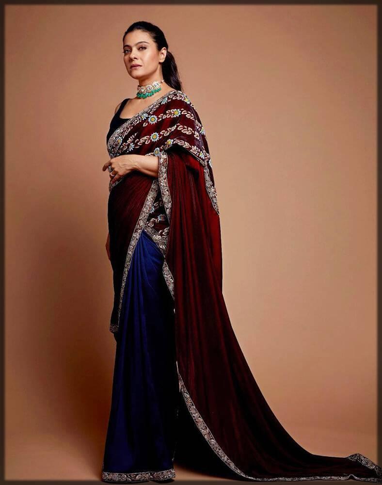 Velvet sari