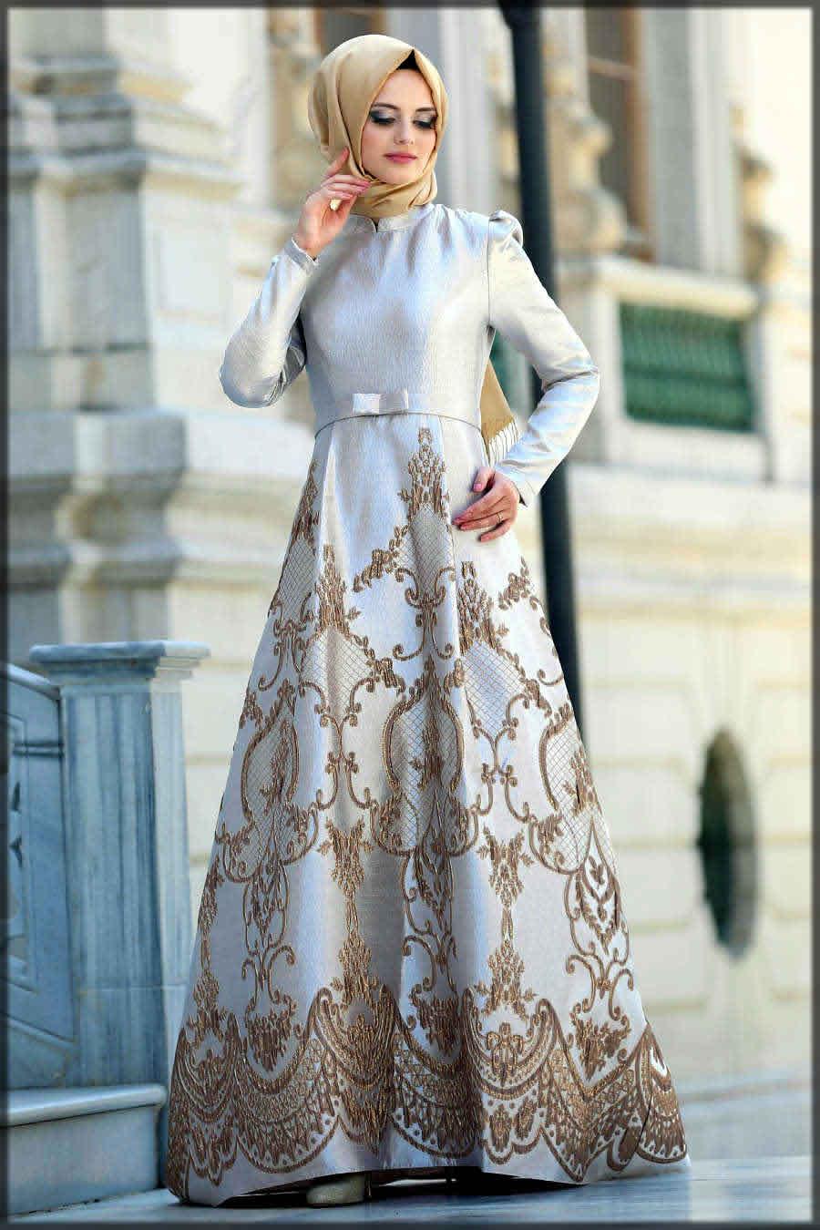 Wedding abaya dress