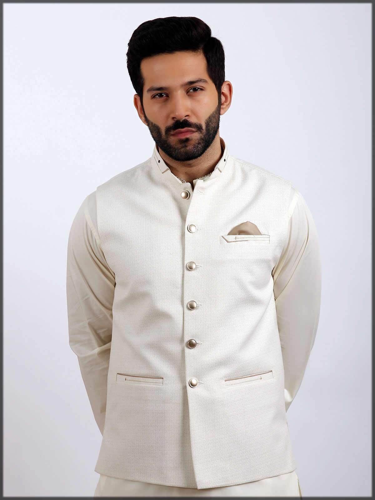 White waistcoat design for men