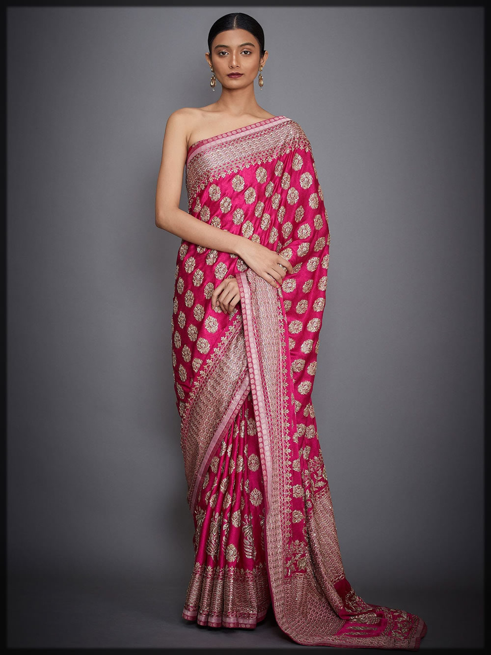 agora jasmine embroidered saree