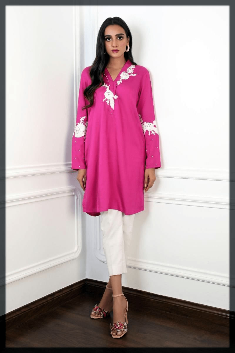 alluring purple kurta for youngest
