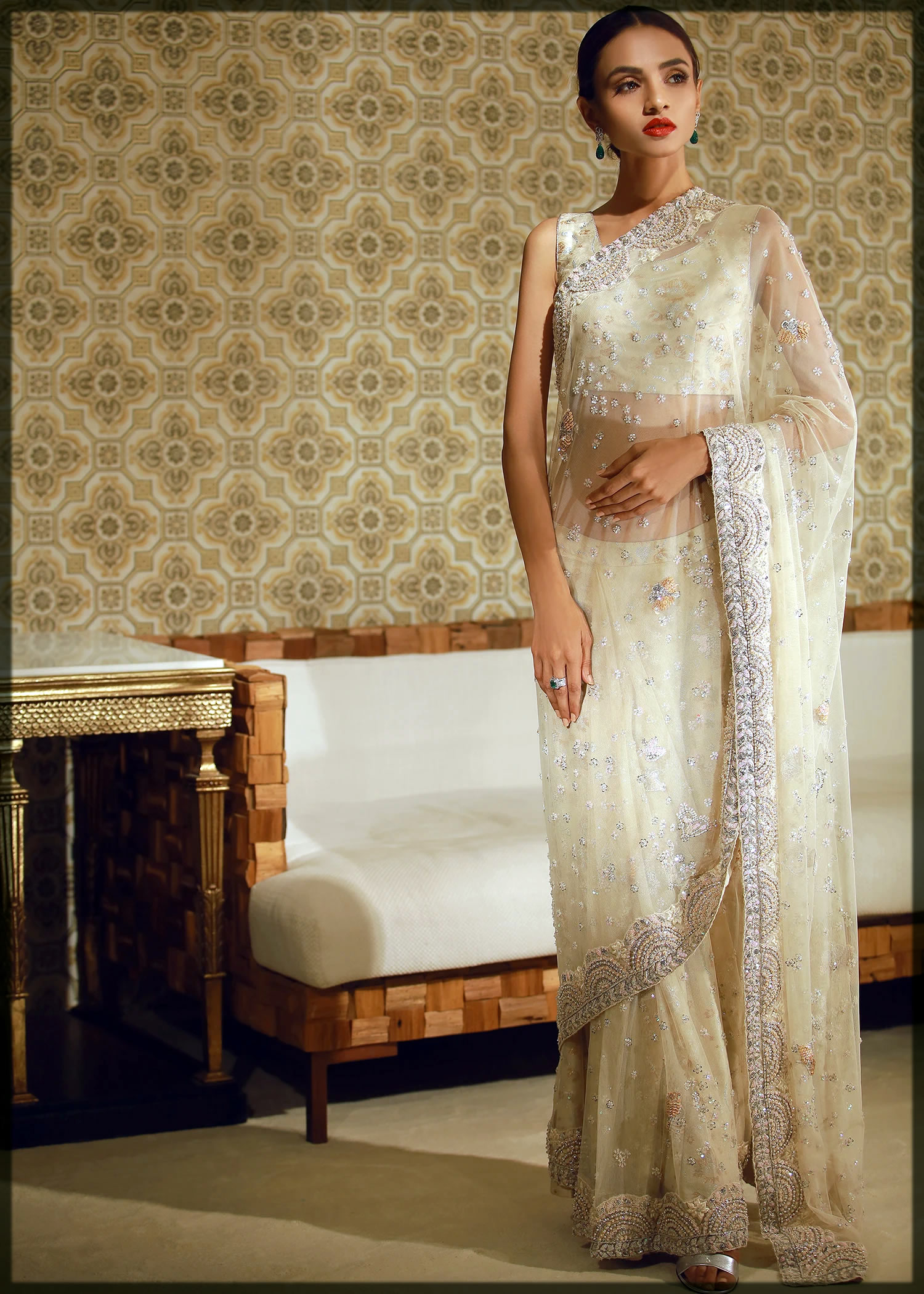 amazing teena durani saree collection