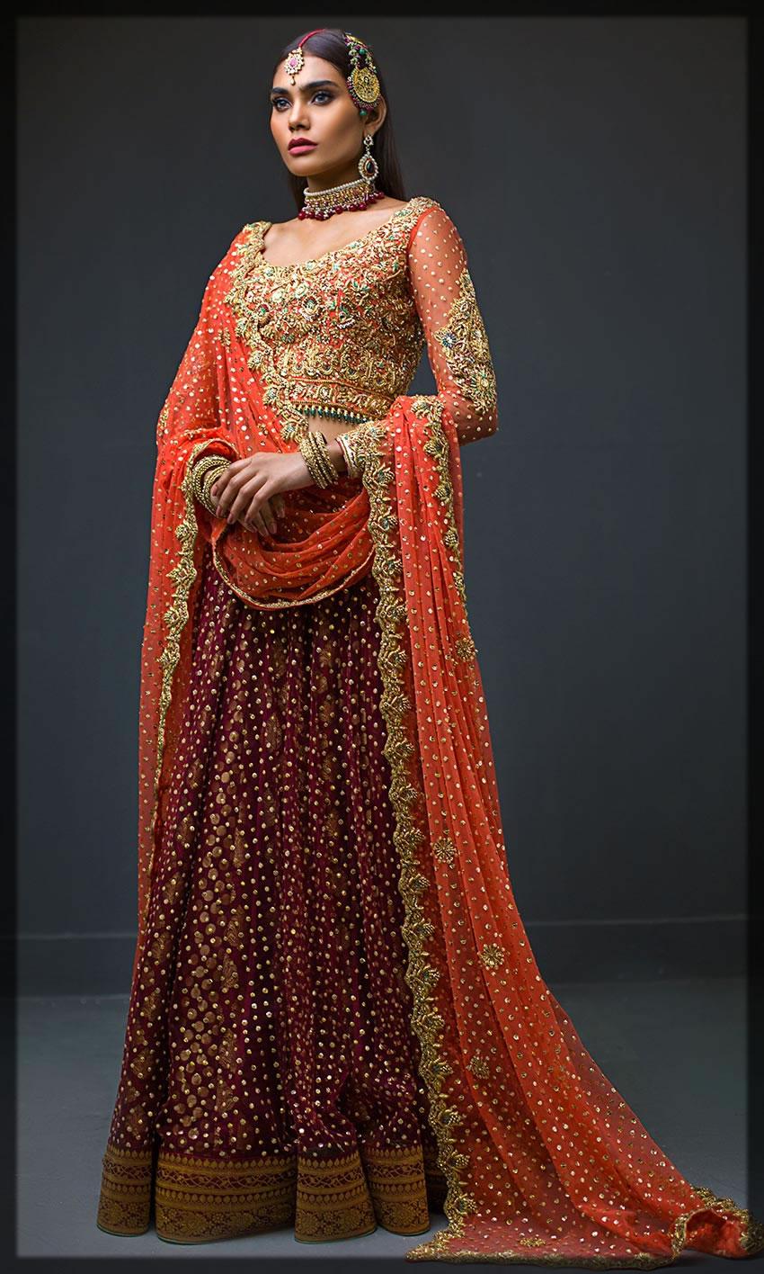 appealing nomi ansari bridal dresses for barat day