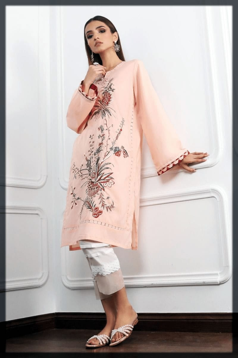 attractive pink youngest eid outfit