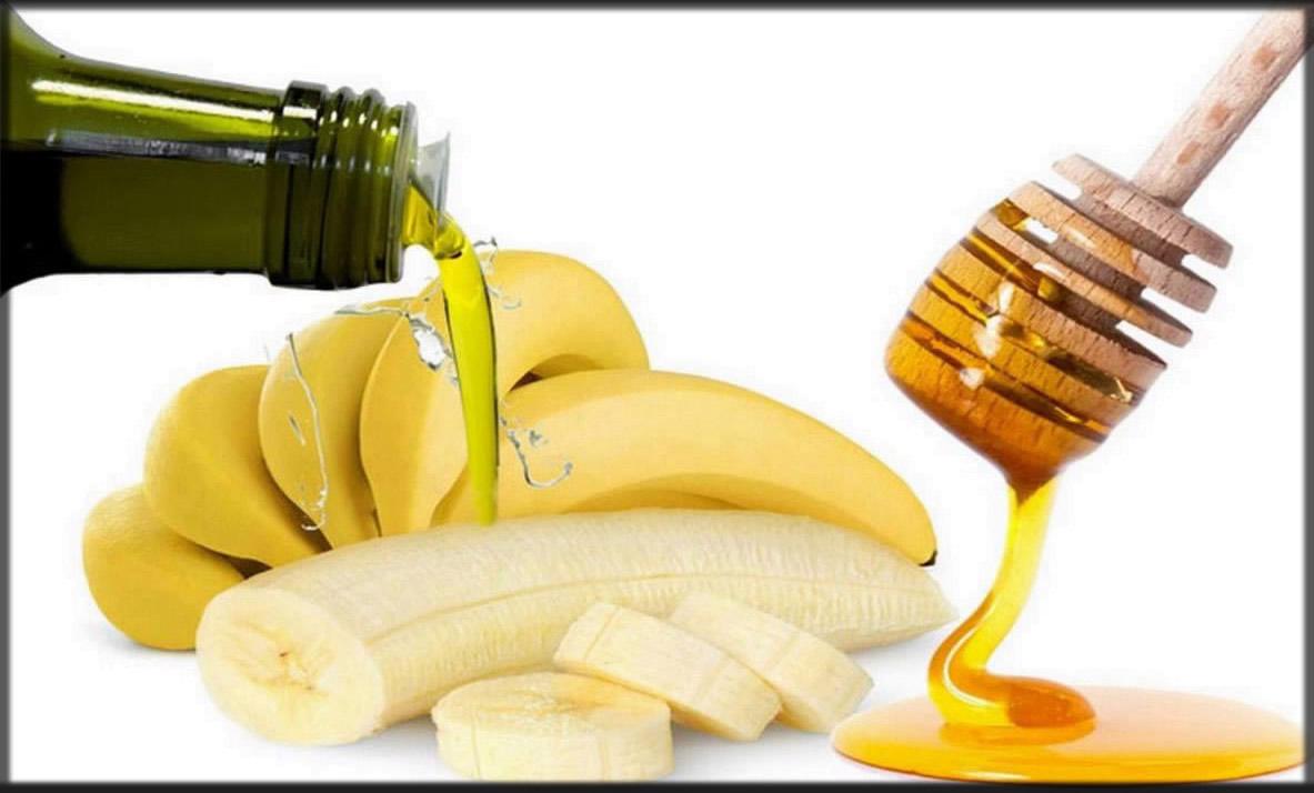 banana, honey and olive oil hair mask for dandruff