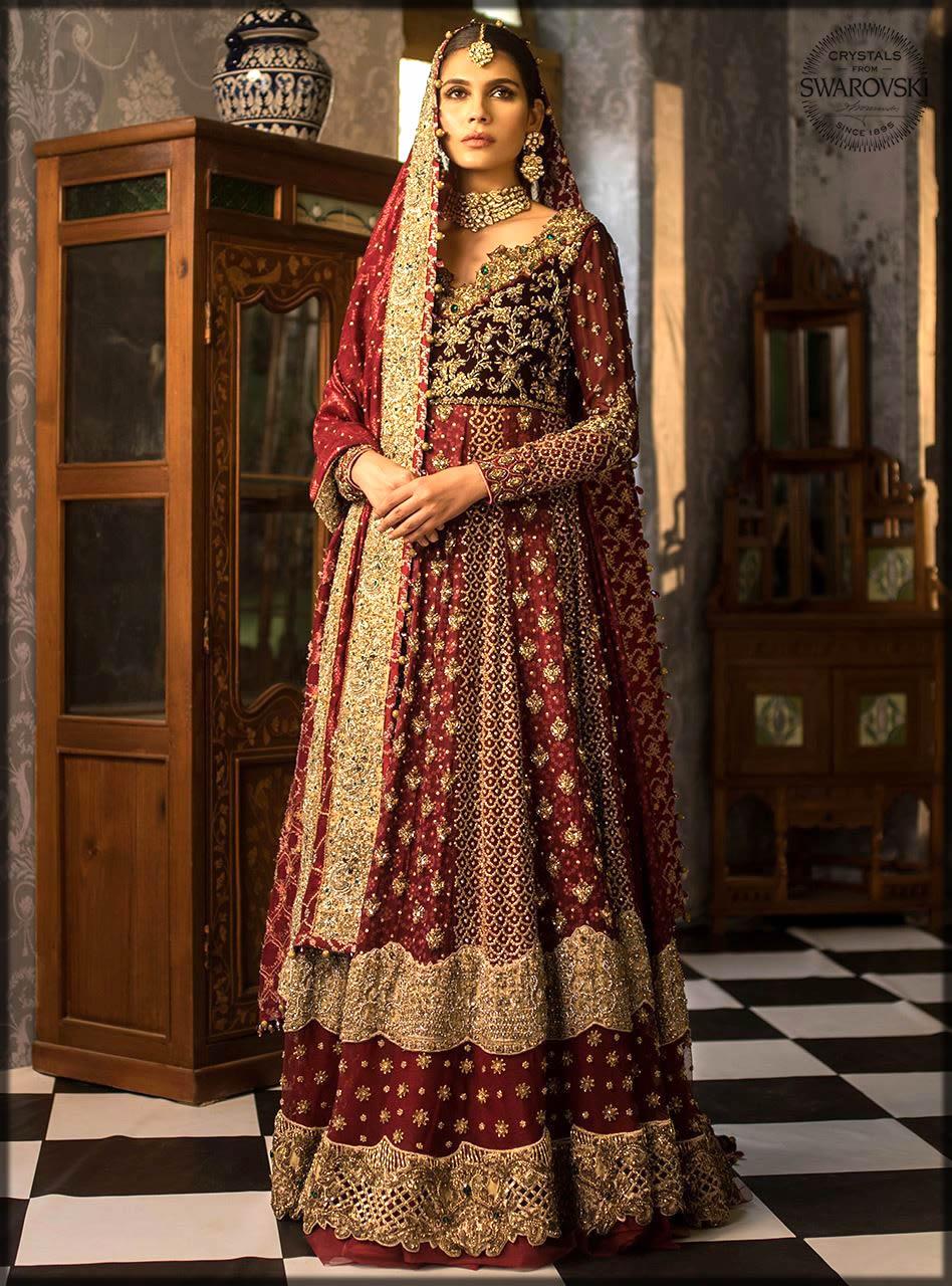 beautiful bridal gown by zainab chottani