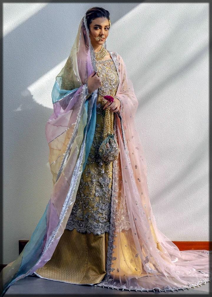beautiful sharara style for mehndi