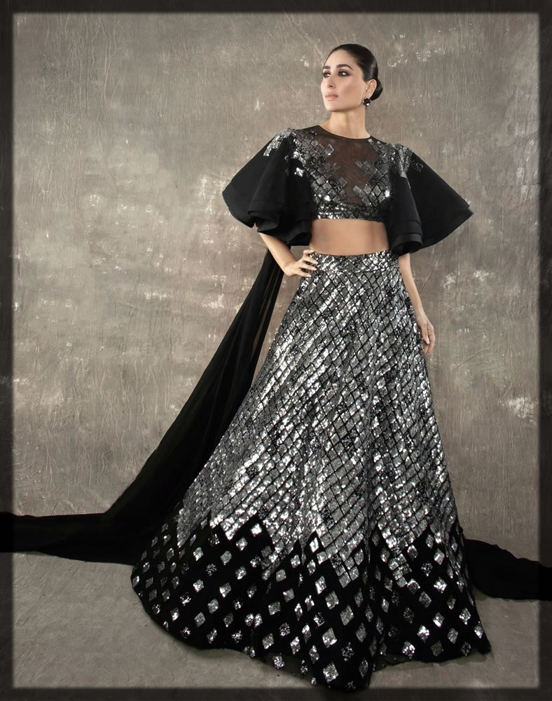 black and silver Manish Malhotra Bridal Collection