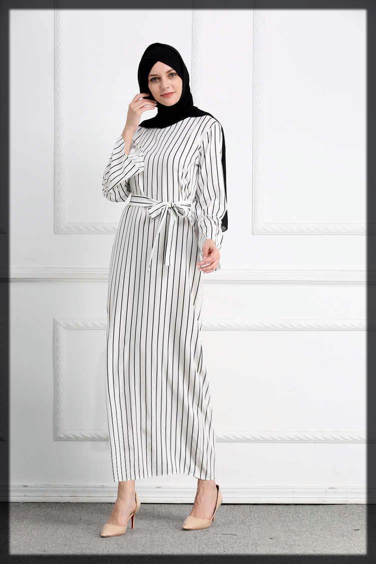 black and white abaya for teenagers