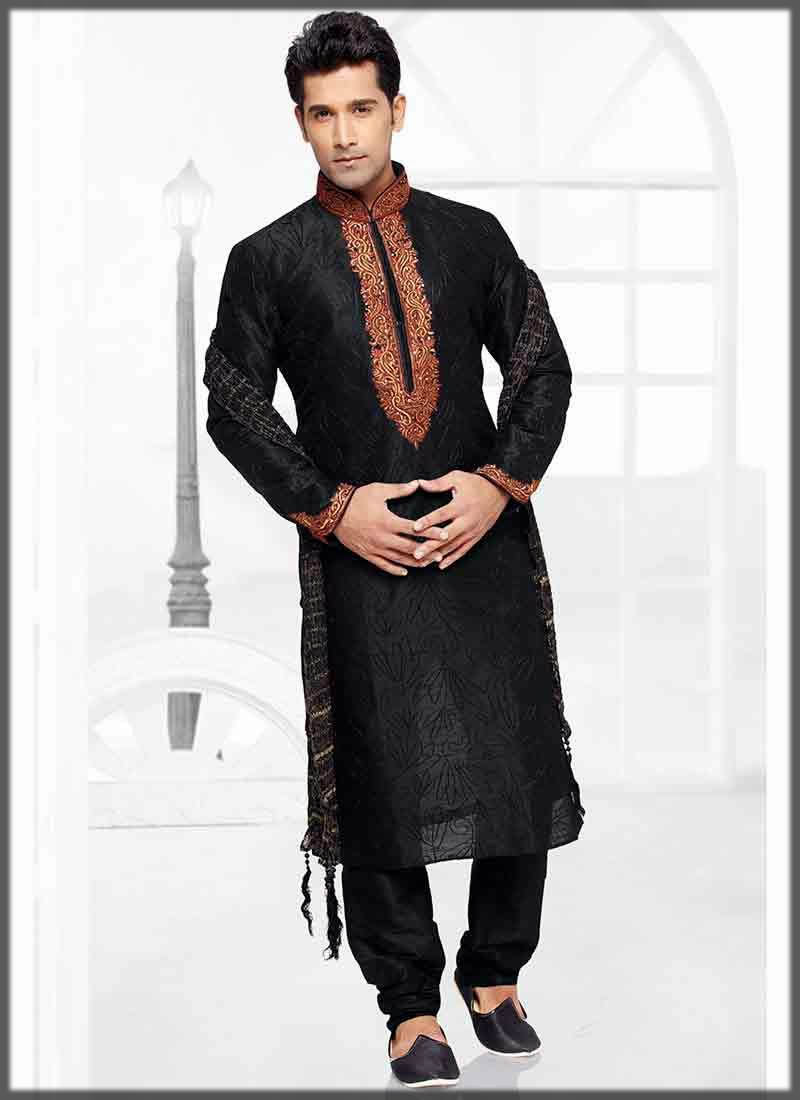 black embroidered mehndi dress