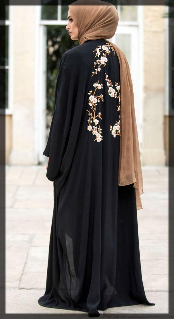 black fancy abaya style