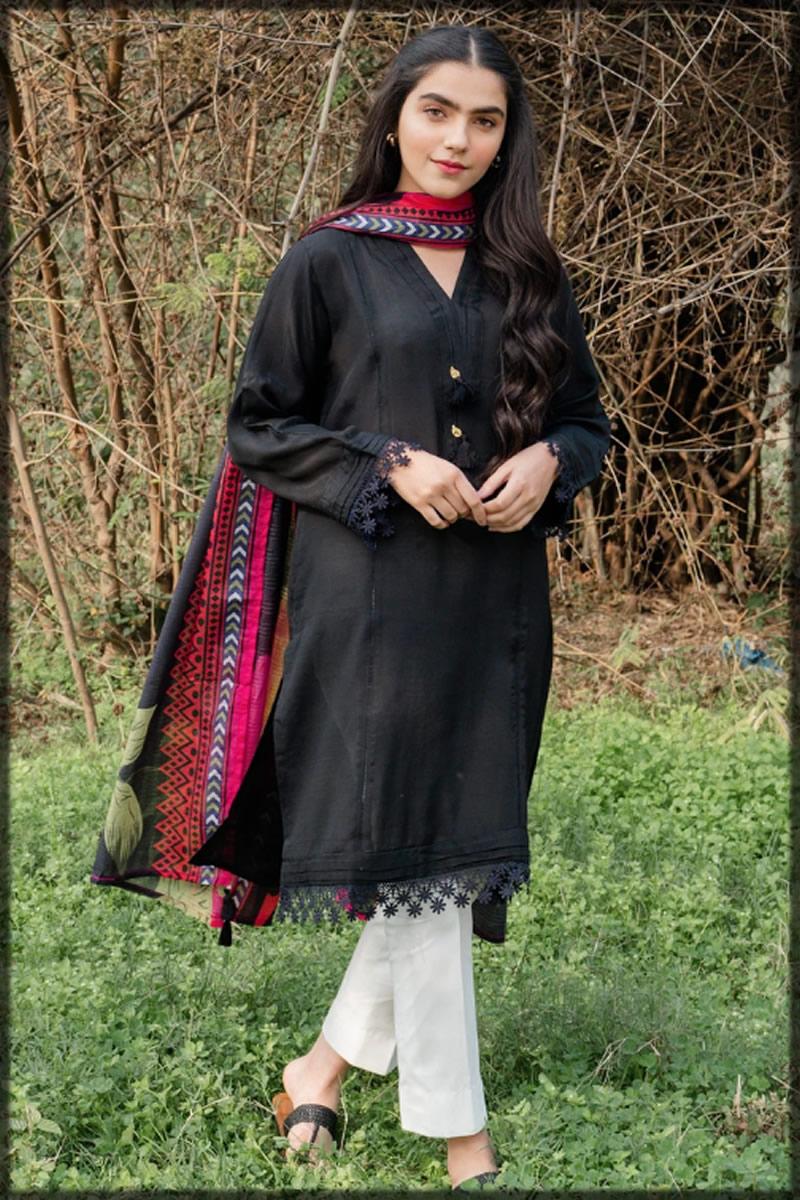 black raw silk dress