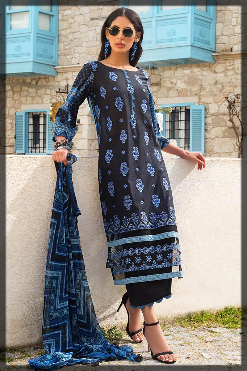 blooming blue summer dress