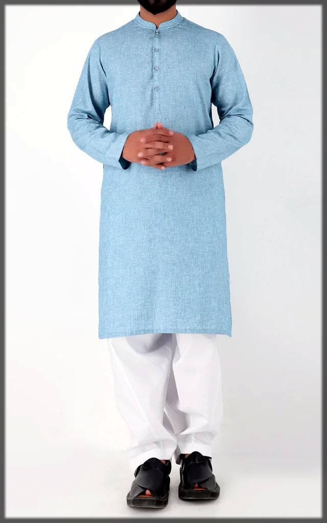 blue and white eid dress by cambridge