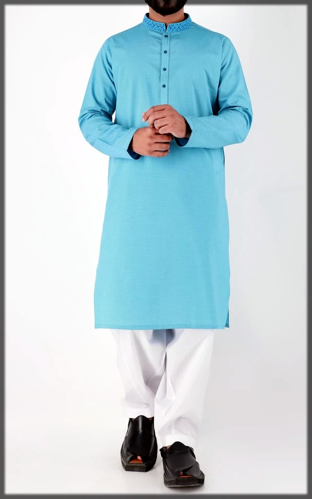 blue eid dress by cambridge