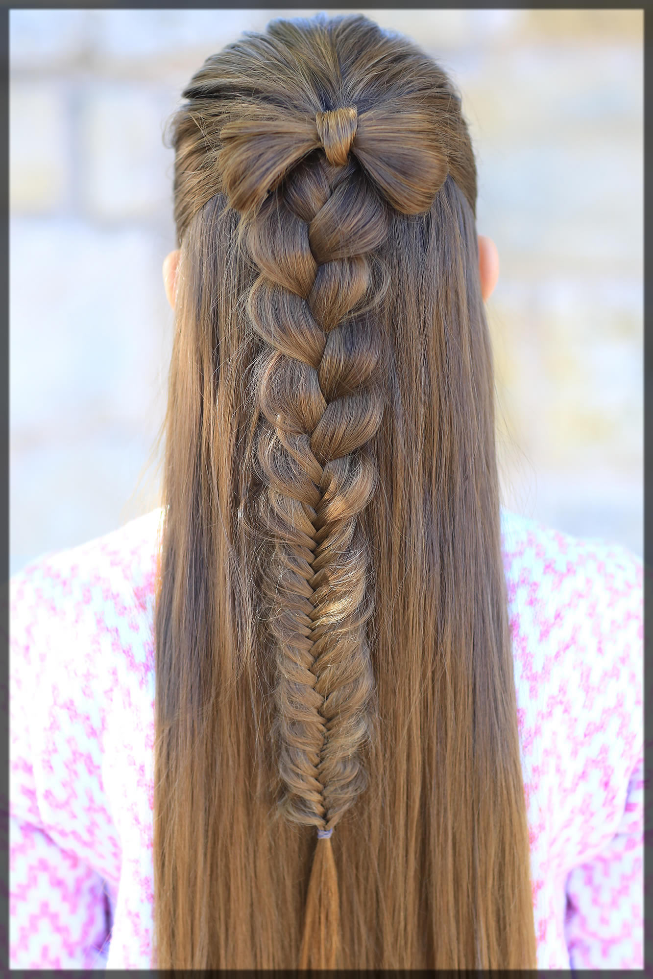 bow with a braid