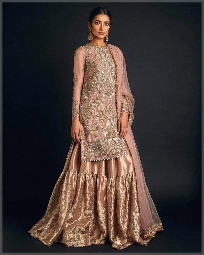bridal gharara design for walima
