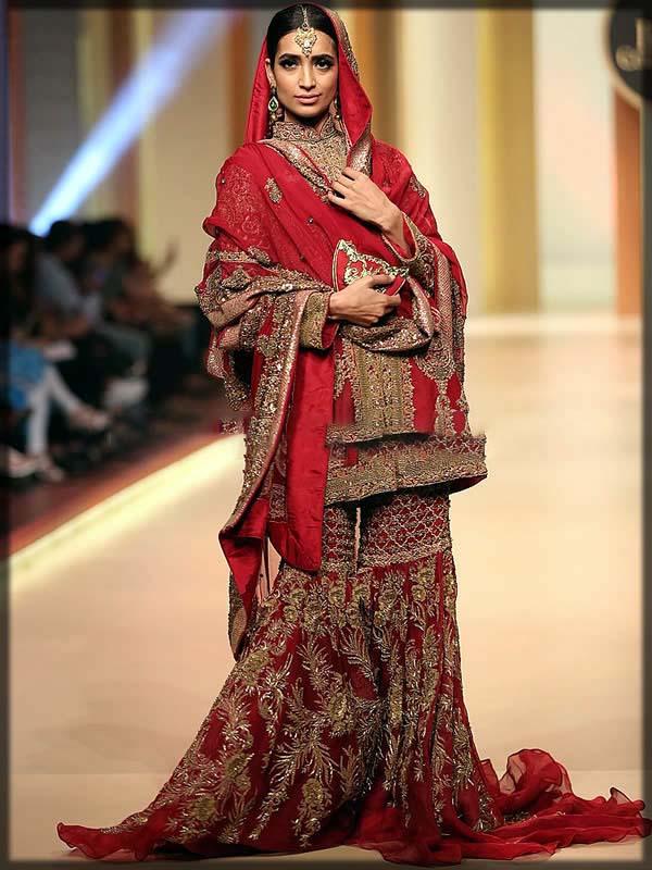 bridal gharara designs