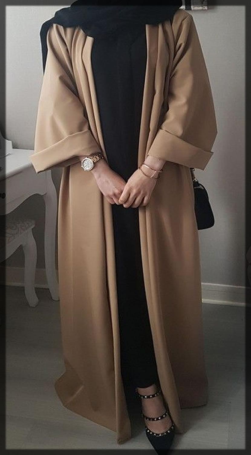 brown abaya style