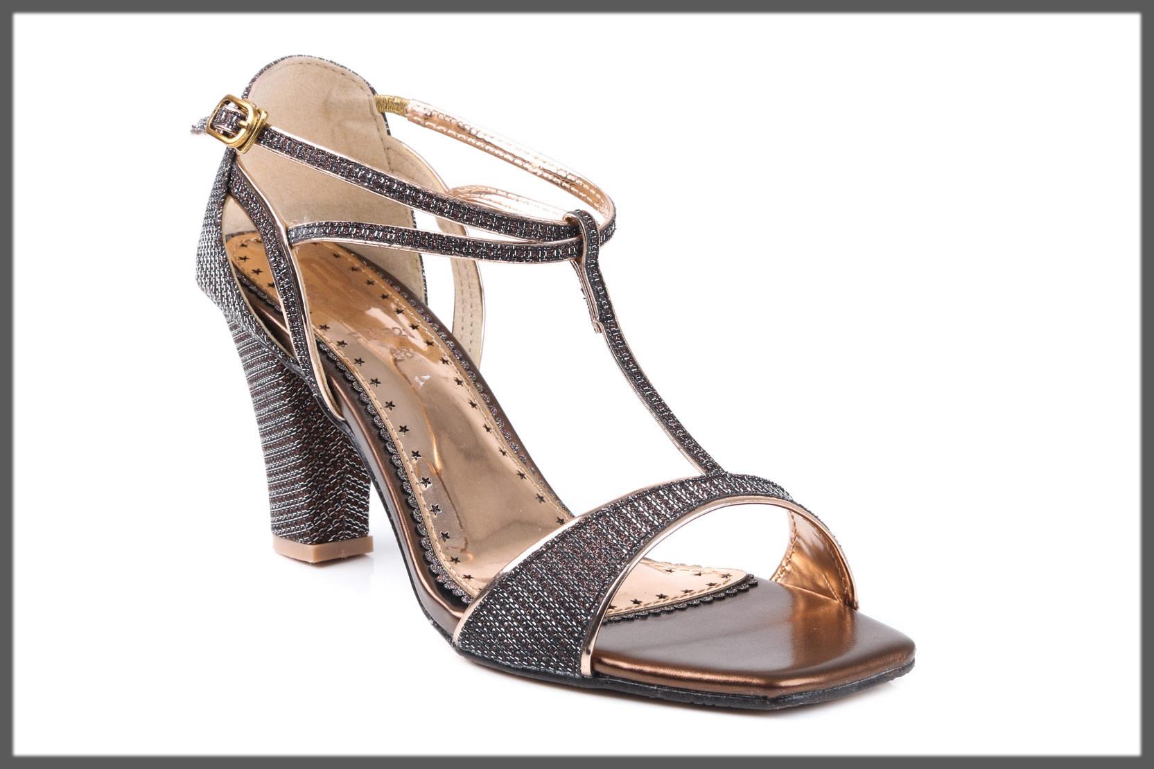 brown fancy heels