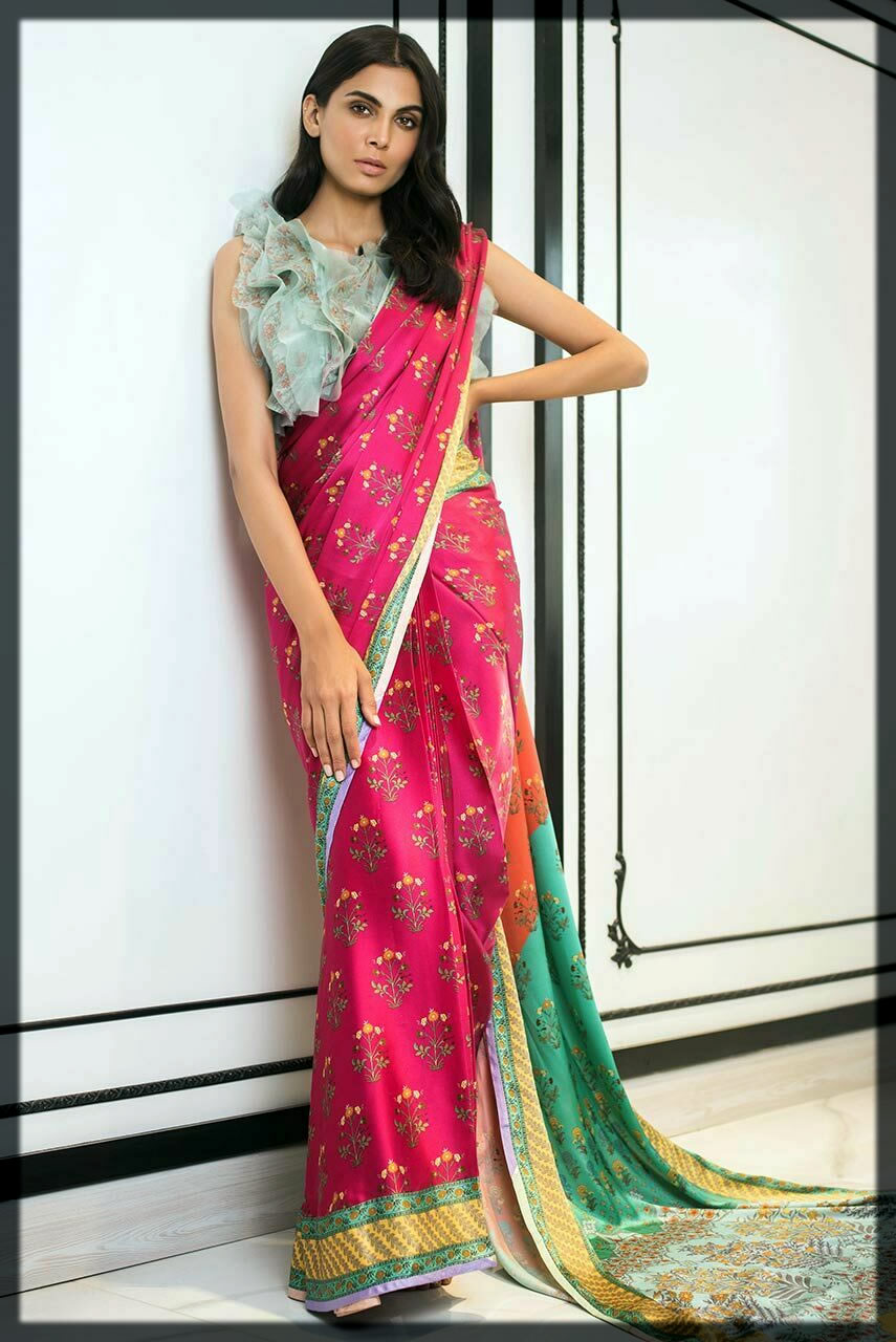 casaul wear saree by sania maskatiya