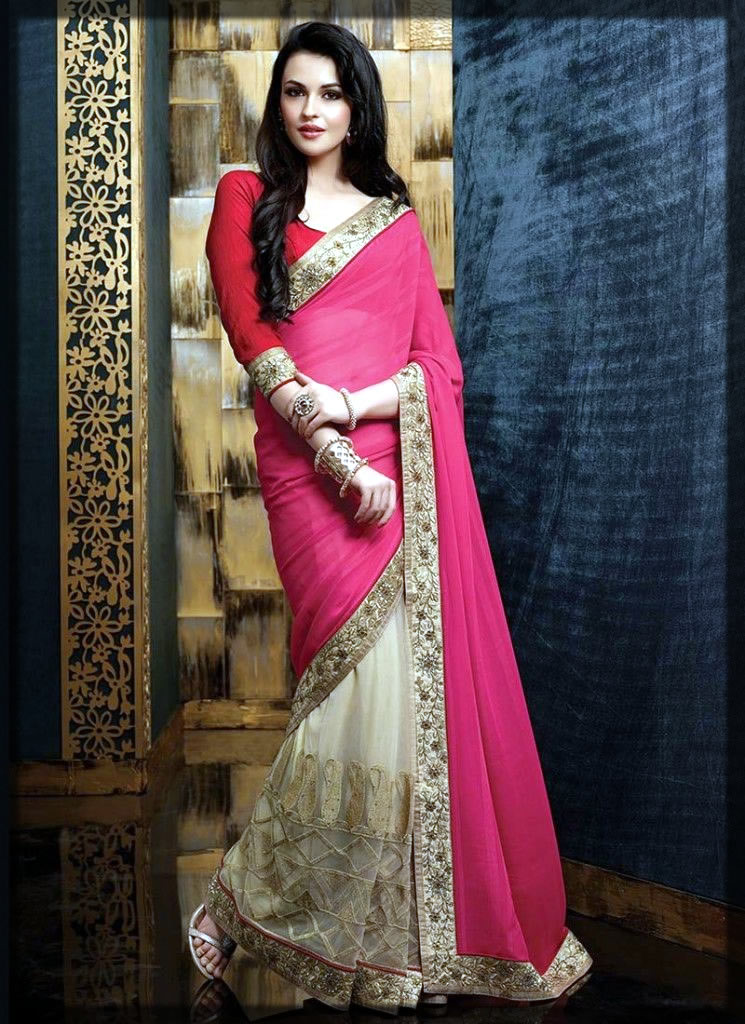 chiffion saree design