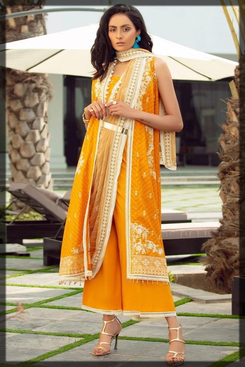 classic orange yellow summer dress