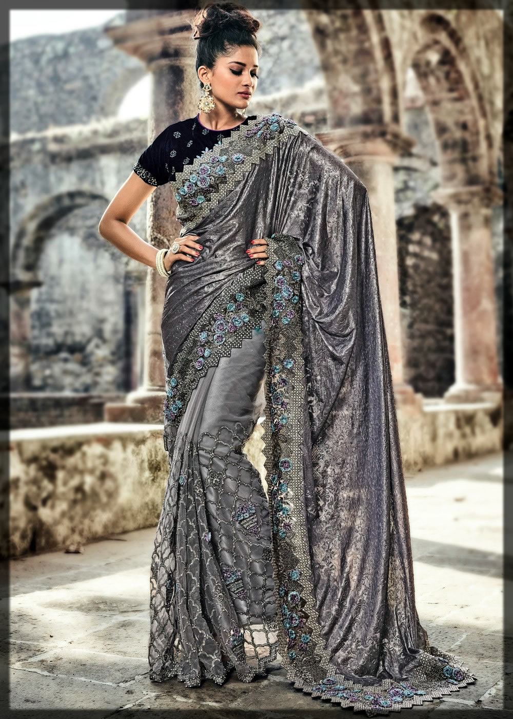 classic saree design for youngest