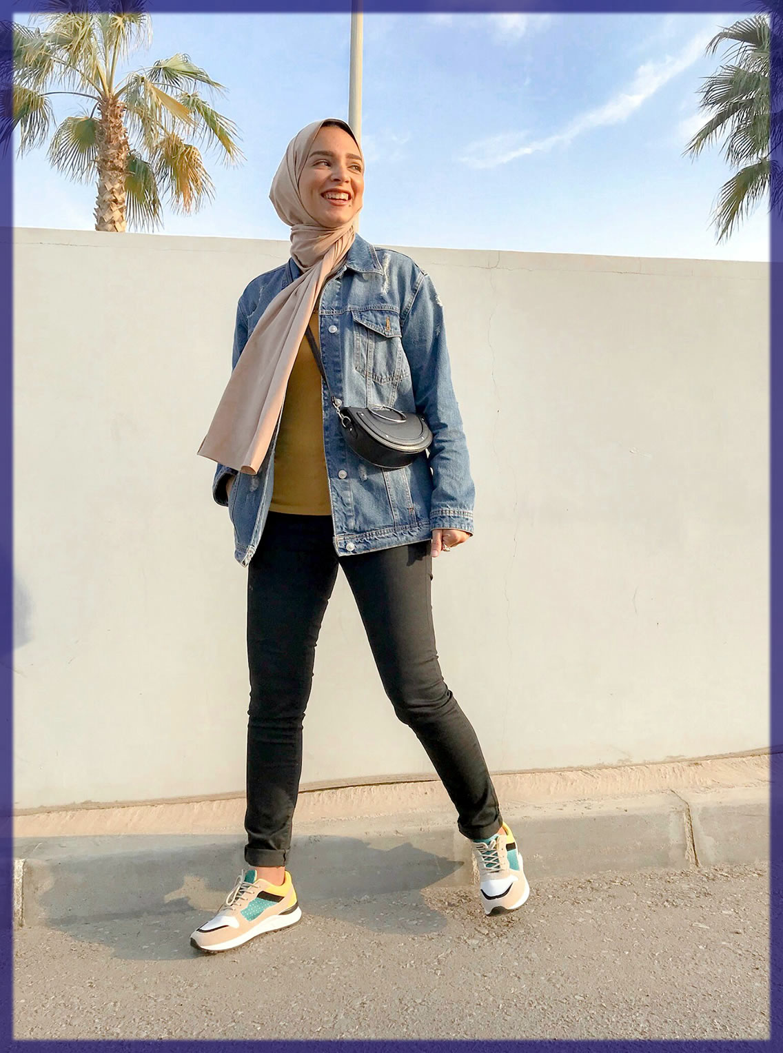 classy Casual Hijab Styles With Jeans