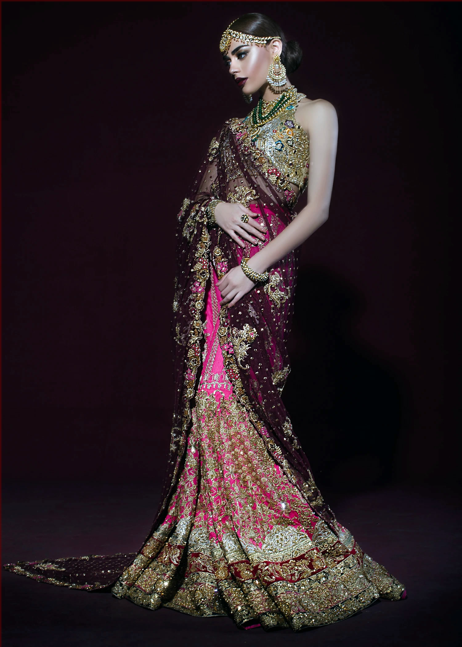 classy Pakistani Saree Designs for women