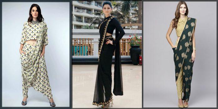 classy Pant Style Saree designs