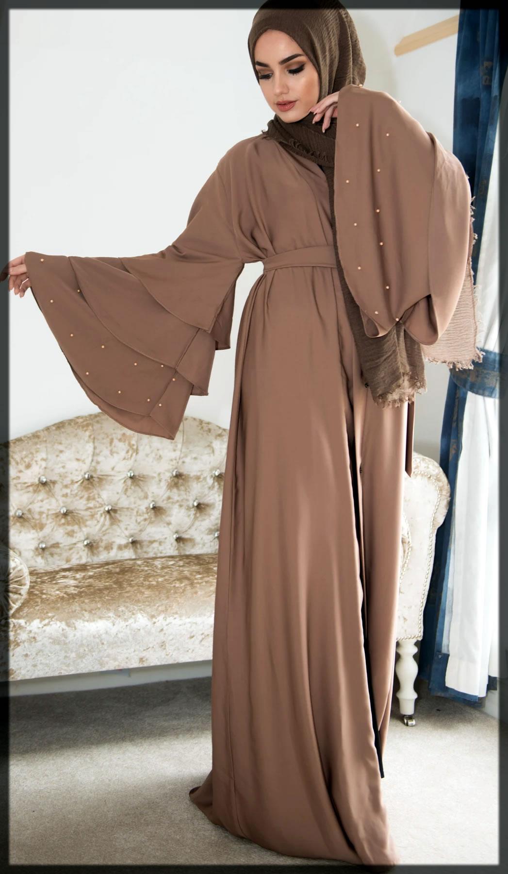 classy dubai abaya with fancy sleevs
